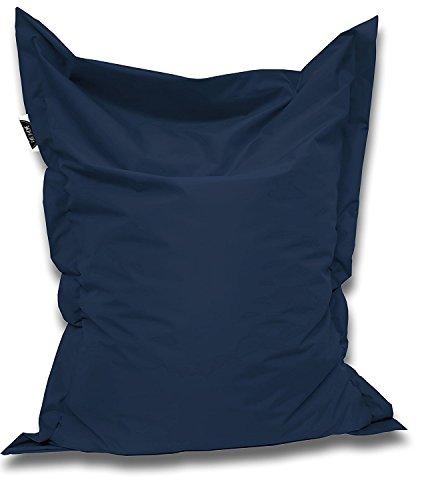 Patchhome Sitzsack und Sitzkissen Eckig - Marine - 145x100cm in 25 Farben und 7 Versch. Größen