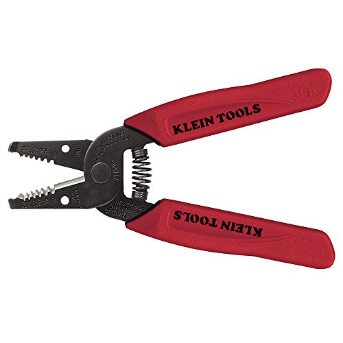 Klein Tools 11046 Abisolierzange für 16-26 AWG stranded mit Seitenschneider, Rot, Pack of 1 - 16 Klein Tools