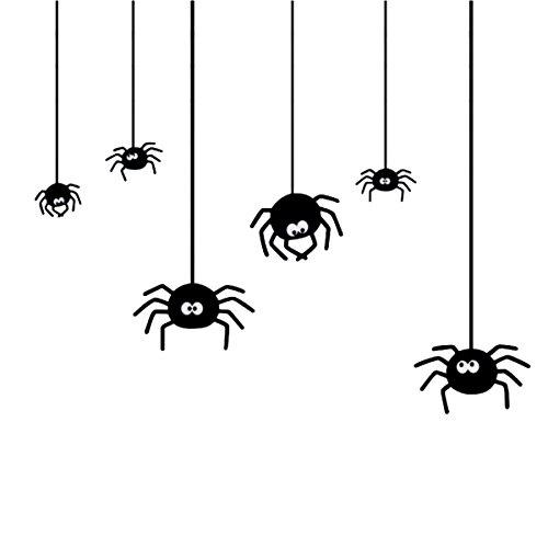 BESTOYARD Spinne Wandaufkleber Abziehbilder Halloween Windows Dekoration Selbstklebende für Wohnzimmer Veranda Schlafzimmer Kindergarten Shop Schaufenster Display (Display Windows Halloween)