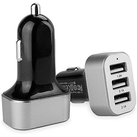 3-puerto de alta BoxWave de corriente Micro Cargador de coche Samsung EX2F - Universal 3-Puerto Triple cargador de coche USB para Samsung EX2F