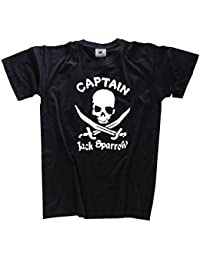 Captain Sparrow Piraten Freibeuter T-Shirt S-XXXL