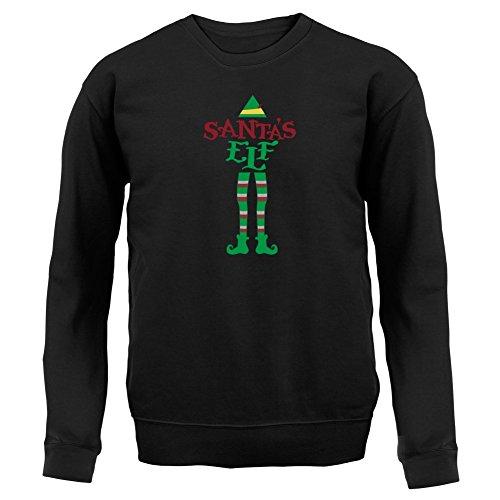 Weihnachtself - Kinder Pullover/Sweatshirt - Schwarz - S (3-4 Jahre)
