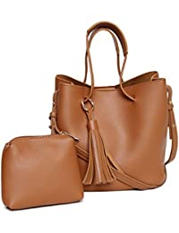 Alvaro Castagnino Brown Colored Sling Bag With Pouch For Women - B07BZDHN7Y