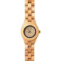 Starlight Italien Holz Eule Uhr