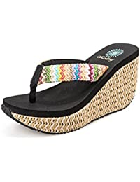 Womens Flip Flops - Slip On Pantoffeln, leichte Damen Sandalen, Breathable Beach Flip Flops - Ideal für den Sommer unterwegs ( Color : Black , Größe : 36 )