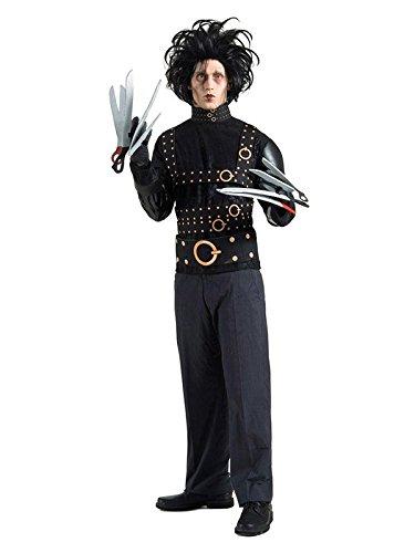 KULTFAKTOR GmbH Edward mit den Scherenhänden Halloweenkostüm Lizenzware schwarz ()