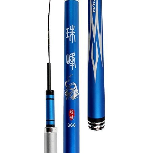 Mjlxy canna da pesca portatile telescopico fishing rod river e creek carpa filatura ultraleggero canne da pesca con dimensioni 3.6-7.2m,5.4
