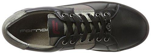 Fornarina Andromeda, Sneaker Basse Donna Schwarz (Black/Gunmetal)