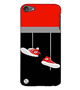 Fuson Designer Back Case Cover for Apple iPod Touch 5 :: Apple iPod 5 (5th Generation) (Hanging shoes theme)