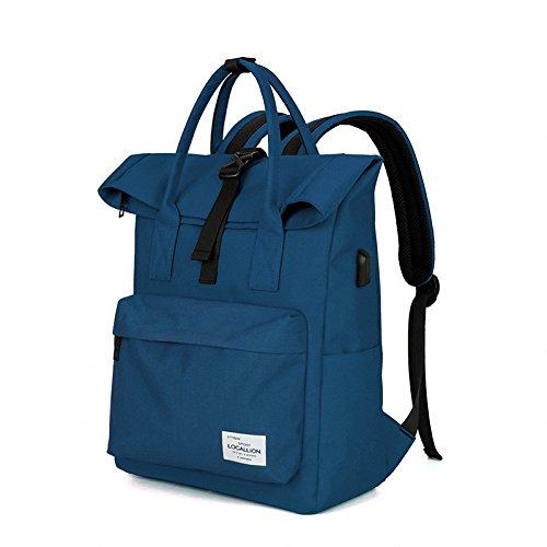 MJ Computertasche / Rucksack wiederaufladbare / Oxford Tuch wasserdichte Computer Tasche / Business Rucksack DEEPBLUE