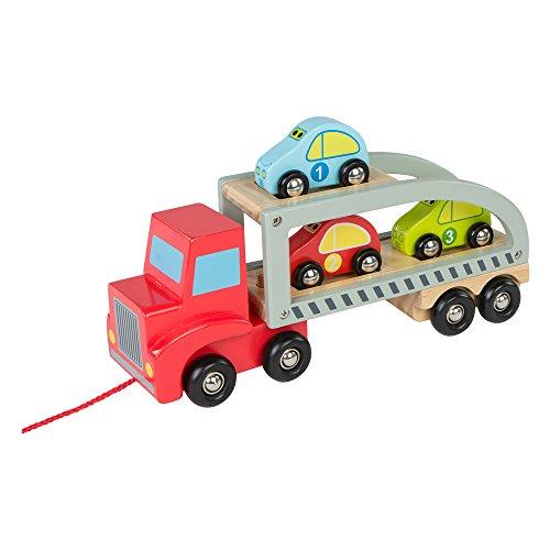 ColorBaby - Camión remolque 3 coches de madera