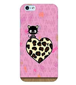 Citydreamz Animal Print/Heart/Black Cat Hard Polycarbonate Designer Back Case Cover For Apple Iphone 4/4S