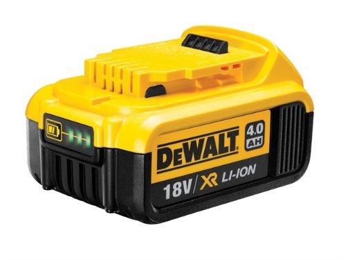 DeWalt Ersatz-Akku 18,0 Volt/ 4,0 Ah XR Li-Ion (kompatibel mit allen 18,0 Volt XR Akku-Maschinen von DeWalt, LED Akku Ladestandsanzeige), - 18v Dewalt Akku-ladegerät