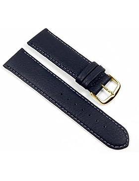 Birkenstock Ersatzband Uhrenarmband Kalbsleder Eco Band Nachtblau 21985G, Anstoß:20 mm