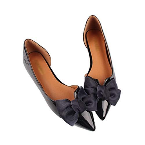 Taste Ballerina (Frauen Elegante Flache Schuhe Bowknot Spitz Damen Slip-on Stilvolle Arbeits Mokassins Fahren)
