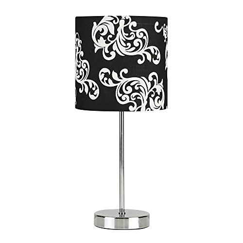 modern-silver-chrome-dimmable-touch-table-lamp-with-a-decorative-white-and-black-damask-pattern-poly