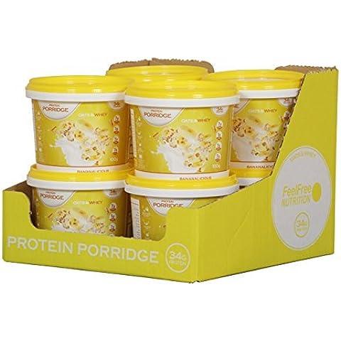 Feel Free Nutrition Protein Porridge 8 x 100g Pots (Banana)