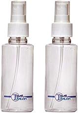 Traveltubes 100 ml round empty,tansparent, refillable & portable spray bottles- set of 2 bottles