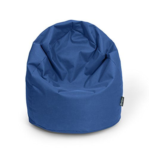 Sitzsack BuBiBag XL mit Füllung Tropfenform Sitzkissen Bodenkissen Kissen Sessel BeanBag (dunkelblau/marine)