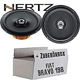 Hertz DCX 165.3-16cm Koax Lautsprecher - Einbauset für Fiat Bravo 198 Front - JUST SOUND best choice for caraudio