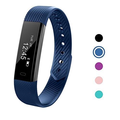 TechCode Ersatzbänder Uhrenarmband Ersatz Armband Einstellbare Armband für Fitness Tracker Smart Watch Activity Tracker (Blau)