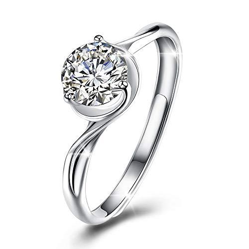 Koloveada anelli donna, anelli donna argento, anello di fidanzamento, anello di cristallo con swarovski elements per matrimonio, natale, san valentino, regalo della mamma.