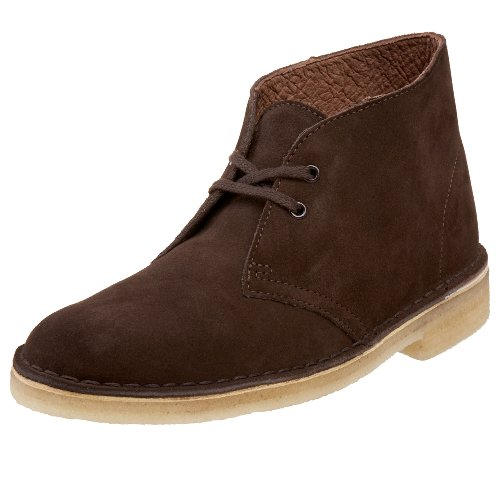 Clarks Womens Desert Boot Lace-Up Boot Chocolate Suede