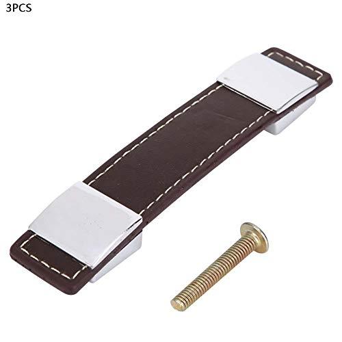 Rose Distressed-leder (Türgriff zieht, Leder Pull Schublade Schrank Kleiderschrank Möbelgriffe Knöpfe(96mm))