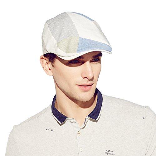 Kenmont hommes d'été mâle chauffeur de taxi gavroche bouchon de lierre pic pare-soleil chapeau (bleu)