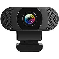 Kaulery Webcam con Microfono a cancellazione di Rumore, Webcam per PC HD 1080P, videocamera Web USB Plug And Play per…