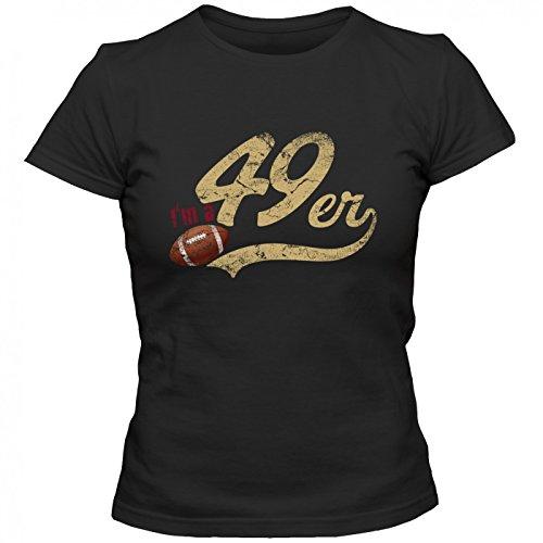 m T-Shirt FootballShirt Play Offs USA Frauen Shirt, Farbe:Schwarz (Deep Black L191);Größe:L ()