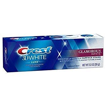 Crest 3D White Luxe, Glamorous White, Vibrant Mint, Whitening Zahnpasta 3er-Pack (3x116 g) - Peroxid Whitening Zahnpasta