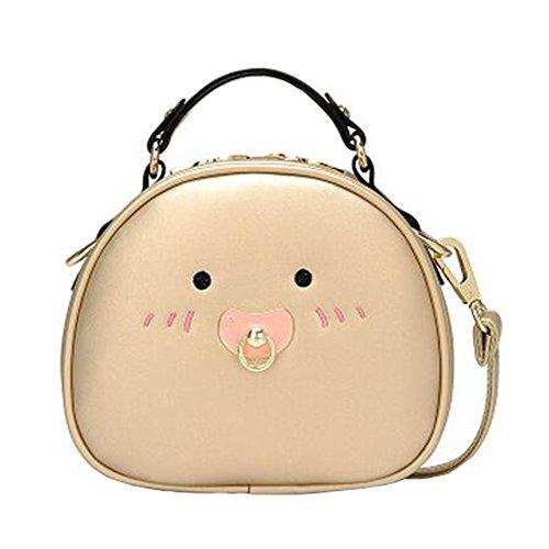 Fille élégante simple sac à bandoulière Bag Fashion Purse, doré