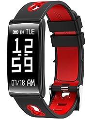 Fitness Tracker Armband mit Handgelenk basiert Herzfrequenz Blut & Druck Monitor, IP68 Wasserdicht Smart Armband mit Step Tracker Schlaf Monitor Kalorienzähler Schrittzähler Watch für Android und IOS