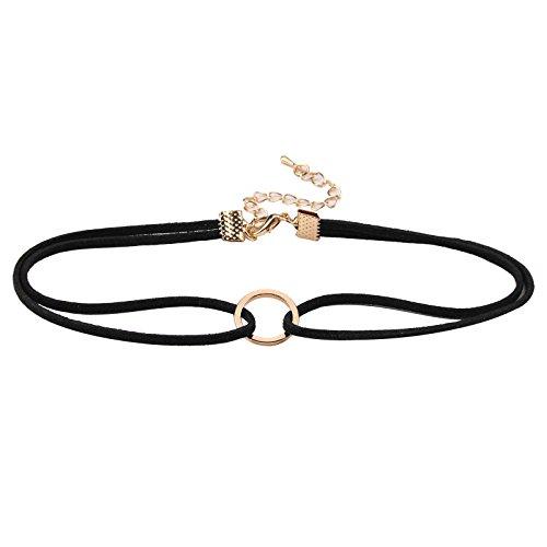 allright-vintage-gothic-velvet-choker-charm-women-handmade-necklace-multicolour-set-black