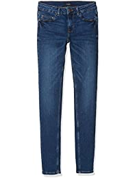 Pieces Pcfive Betty Dnm F112 Mw Skn Mb/Noos, Jean Skinny Femme