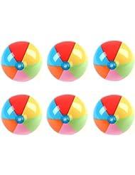 Maaryee 3couleurs/6couleurs PVC Rainbow Ballon de plage gonflable pour enfant Bain pour jouer