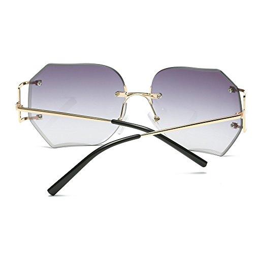 NINGSANJIN Sonnenbrille Frauen Herren Sommer Vintage Retro Quadrat Farbverlauf Brille Unisex Mode Avi GD