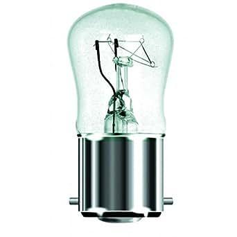 Lot de 10 x BELL 02530 Pygmy 15 W Transparent Petite ampoule à baïonnette B22 230/240 V AC avec Lampe torche porte-clés LED