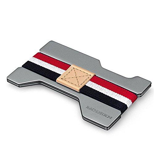 Herrenbrieftasche Wallet Card Paket Aluminium Box Mini kleine tragbare Geschenk für den privaten Gebrauch Business Casual tägliche Clutch (Farbe : Chrome)