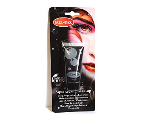 Tube crème maquillage à l'eau Aqua NOIR déguisement - 38 ml