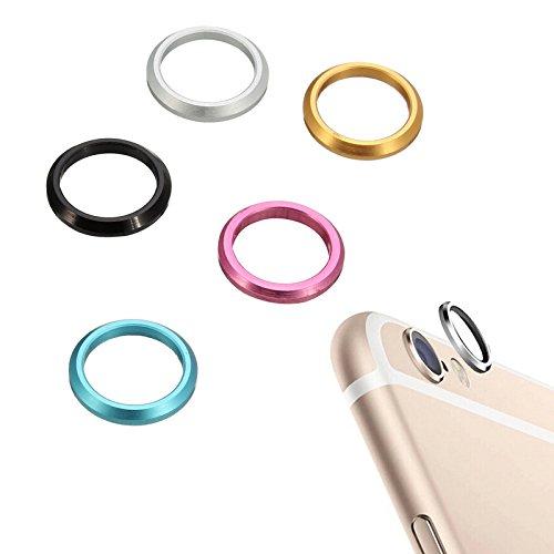 Lens Cover Unique Mode arrire Retour CamŽra MŽtal Anneau de protection CamŽra Protector Case pour iPhone 6S rose