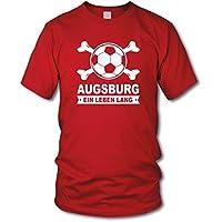 shirtloge - AUGSBURG - Ein Leben Lang - Fan T-Shirt - Größe S - 3XL