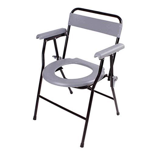 XZD-Stools Alter Mann, der in einem Stuhl behinderten Toiletten-Bad-Schemel-Bettpfanne-Toilettensitz-Töpfchen-Klapptoilettensitz-Schwangere Frauen-beweglicher Bad-Schemel-Rückenlehnen-Griff sitzt (Töpfchen Stuhl Griffe)