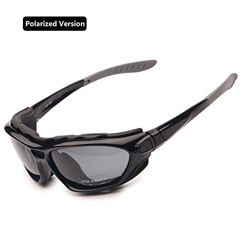 EnzoDate motorrad - brille polarisierte brillengläser klar tag - nacht - helm sonnenbrille auswechselbare tem (polarisierte version)
