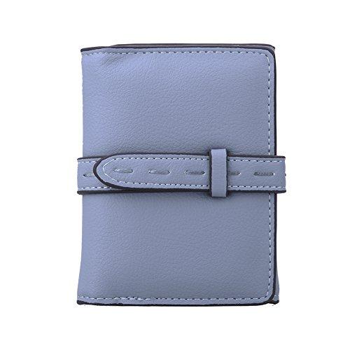 Amazingdeal365 Donne Breve Liscio Denaro Borsa Id Carta Di Credito Portamonete (Blu) Blu