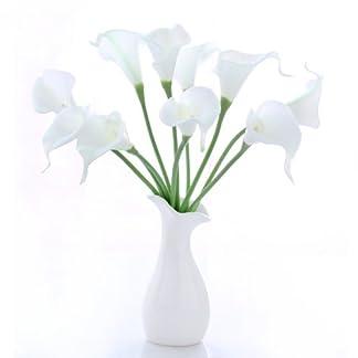 20 x Nuevo Flor Látex Artificial Cala Decoración para Boda Fiesta Banquete