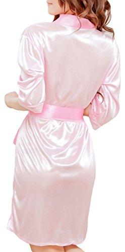 La Vogue Lingerie Nuisette Vêtement Nuit Dentelle Grande Taille G-String Femme Rose