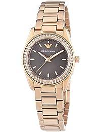 Emporio Armani AR6030 - Reloj de cuarzo para mujer, correa de acero inoxidable color oro rosa