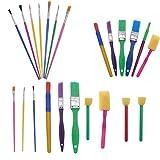 SUPVOX 30 piezas de pinceles artísticos para pinceles de esponja de acuarela para niños herramientas de dibujo de pintura de aprendizaje temprano para manualidades suministros de arte diy